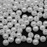 6mm White Round Acrylic Beads(PACR-6D-1)