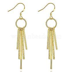 Plaqué or 18k tendance laiton pendentif boucles d'oreilles pour les femmes, or, broche: 0.7 mm; 67 mm(EJEW-BB01518)