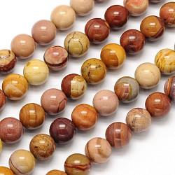 """Mookaite naturel chapelets de perles rondes, 8mm, trou: 1mm; environ 49 pcs/chapelet, 15.5""""(X-G-N0166-09-8mm)"""