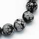 Natural Snowflake Obsidian Round Beads Strands(X-G-S172-6mm)-1