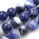 Natural South Africa Sodalite Beads Strands(G-S259-35-10mm)-1