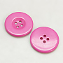 Hot Pink Resin Button(RESI-D033-11mm-04)