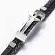Leather Braided Cord Bracelets(BJEW-E324-A10)-2