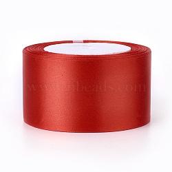 """Ruban de satin à face unique, Ruban de polyester, firebrick, 2"""" (50 mm); environ 25yards / rouleau (22.86m / rouleau), 100yards / groupe (91.44m / groupe), 4 rouleaux / groupe(RC50MMY-026)"""