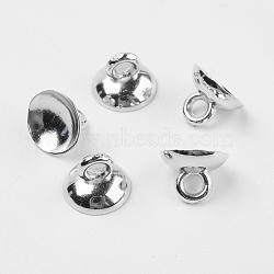 Béliers en plastique, pour les pendants de couverture de bulle de verre de globe, platine, 7x10mm, trou: 2 mm; diamètre intérieur: 9 mm(X-KY-K003-02A)