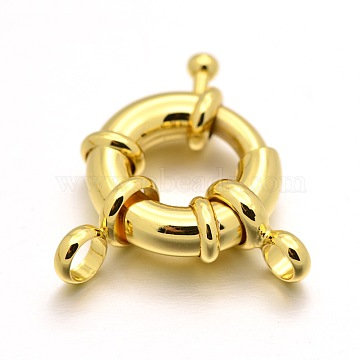 Real Gold Plated Brass Clasps