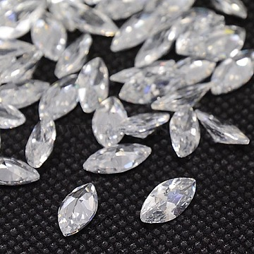 10mm Clear Horse Eye Cubic Zirconia Cabochons