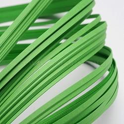 Bandes de papier quilling, limegreen, 390x3mm; à propos 120strips / sac(X-DIY-J001-3mm-B14)