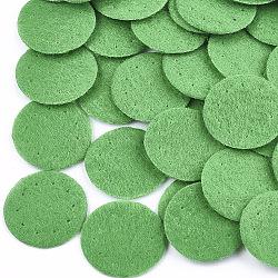 Tampon de parfum en tissu non tissé, plat rond, verte, 19~20x0.6 mm; environ 2000 PCs / sac(DIY-S035-10C-20mm)
