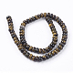 Natural Gemstone Tiger Eye Stone Rondelle Beads Strands(G-S105-8mm-20)-2
