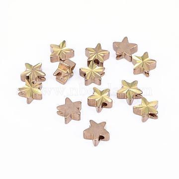 Unplated Star Brass Spacer Beads