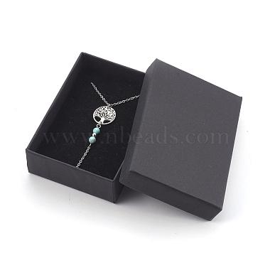 Natural Turquoise Pendant Necklaces(NJEW-JN02268-04)-4