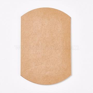 Kraft Paper Wedding Favor Gift Boxes, Pillow, Tan, 9x10.5x3.5cm(X-CON-WH0037-B-12)