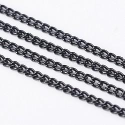 gourmettes électrophorèse de fer, non soudée, avec bobine, noir, 3x2x0.6 mm(X-CH-R063-K127)