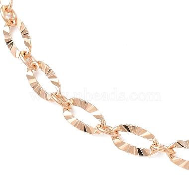 латунь кабель цепи ожерелье изготовление(NJEW-JN03164)-2