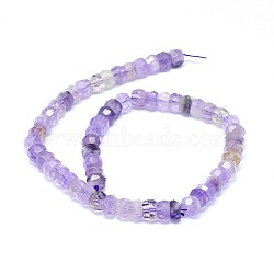 Natural Amethyst Beads Strands, Faceted, Rondelle, 8x5~8mm, Hole: 0.8mm; about 64~80pcs/strand, 15.7 inches(40cm)