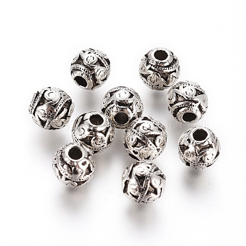 6mm Rondelle Alloy Beads