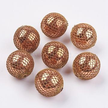 21mm Beige Round Brass Beads