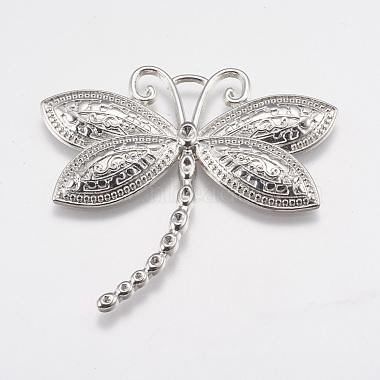 Platinum Dragonfly Alloy Pendants