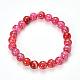 Veines de dragon naturelles agate perles bracelets extensibles(X-BJEW-Q692-02B)-1