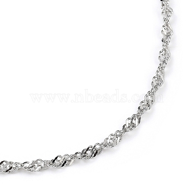 304 Stainless Steel Singapore Chain Necklaces(NJEW-JN02930-01)-2