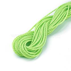 cordon de polyester ciré, springgreen, 1 mm; sur 8.96~9 m / rouleau(YC-WH0005-05)