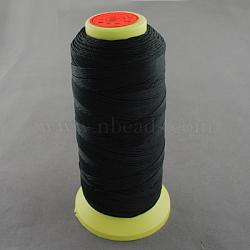 Fil à coudre de nylon, noir, 0.8mm, environ 300 m / bibone (NWIR-Q005-41)