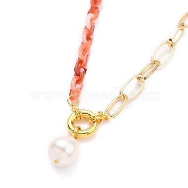 Natural Baroque Pearl Keshi Pearl Pendant Necklaces(NJEW-JN03149)-3