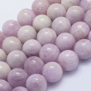Natural Kunzite Beads Strands, Spodumene Beads, Round, Grade AB, 16mm, Hole: 1.5mm; about 25pcs/strand, 15.9 inches(40.5cm)(G-L478-11-16mm)