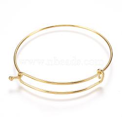 регулируемый 304 расширяемый браслет из нержавеющей стали, золотой, 2-3 / 8 (60 мм); 1.5 мм(STAS-I081-01G)