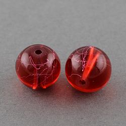 """Drawbench прозрачные стеклянные бусы нити, окрашеные, круглые, огнеупорный кирпич, 10 мм; отверстие: 1.3~1.6 мм, 31.4""""(X-GLAD-Q012-10mm-15)"""