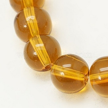 4mm Goldenrod Round Glass Beads