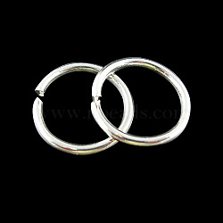 Jump Rings, Close but Unsoldered, Iron, Silver Color Plated, 14x1.5mm; Inner Diameter 11mm(X-JRS14mm)