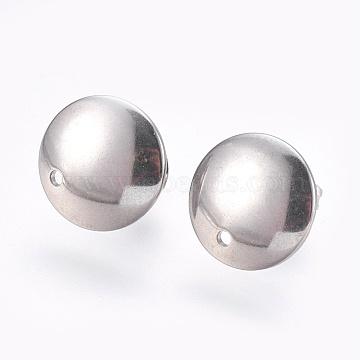 Stainless Steel Color Stainless Steel Stud Earrings