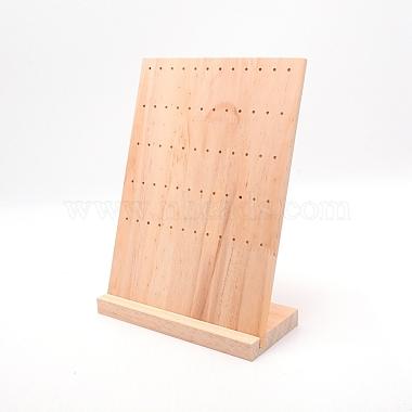 présentoir de boucle d'oreille en bois de pin(EDIS-WH0008-08A)-2