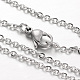 304 Stainless Steel Cable Chain Necklaces(NJEW-L418-01P)-1
