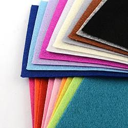 Feutre à l'aiguille de broderie de tissu non tissé pour l'artisanat de bricolage, couleur mixte, 15x10x0.1 cm; 40 pcs / sac(DIY-S025-01)