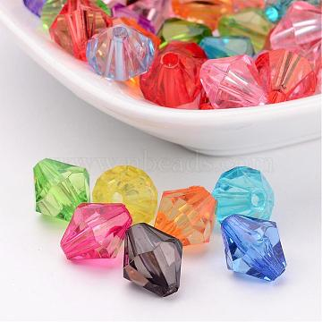 10mm Mixed Color Bicone Acrylic Beads