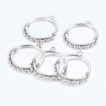 Antique Silver Round Alloy Links