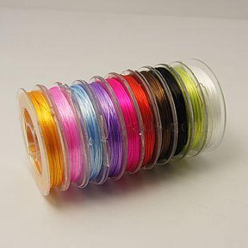 Fil élastique extensible fort de perles, couleur mixte, 0.8 mm; environ 10 m/rouleau(EW-N002-M)