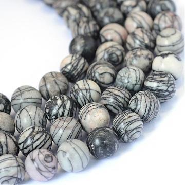 Perles De Verre Rond 8 mm Strang Nachtblau Metallic paillettes Crystal-p00567x5v