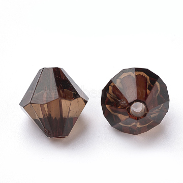 4mm CoconutBrown Bicone Acrylic Beads