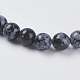 Natural Snowflake Obsidian Beads Strands(G-G515-6mm-01)-3