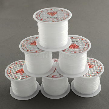 Nylon Wire, Clear, 0.3mm, about 65.61 yards(60m)/roll(X-NWIR-R011-0.3mm)