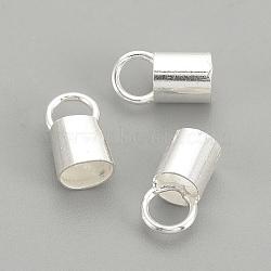 925 bouchons d'extrémité en argent sterling, argenterie, 10.5x5.5mm, environ 4.5 mm de diamètre intérieur, Trou: 4mm(STER-S002-27)