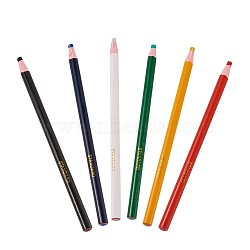 Stylos de craie tailleur gras, marquage de couture du tailleur, couleur mixte, 16.3~16.5x0.8 cm, 6 pièces / kit(TOOL-TA0006-07)