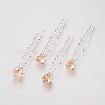 Silver Rhinestone Hair Forks