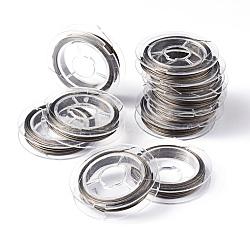 fil de queue, acier revêtu de nylon, couleur inox, 0.45 mm; 10 m / rouleau(TWIR-S001-0.45mm-02)