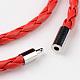 Braided Imitation Leather Cord Wrap Bracelets(BJEW-L566-02B)-3
