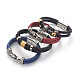 Retro Leather Cord Bracelets(BJEW-L642-38)-1